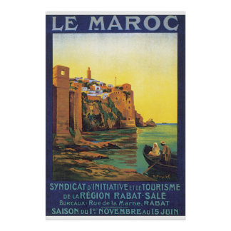 Het Poster van de Reis van le Maroc Vintage