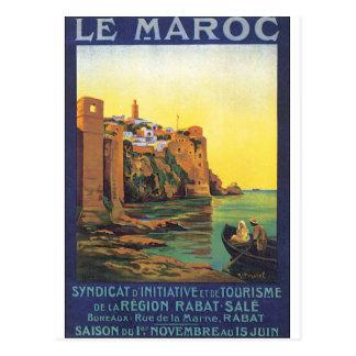 Het Poster van de Reis van le Maroc Vintage Briefkaart