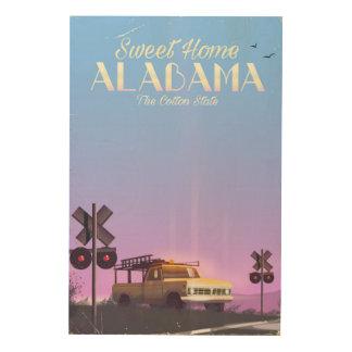 """Het poster van de Reis van """"zoet huis"""" Alabama Foto Op Hout"""
