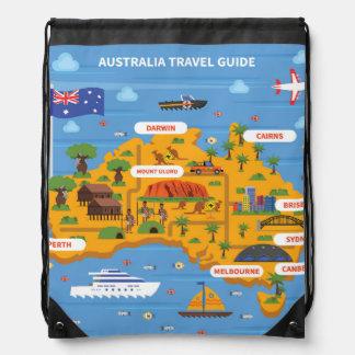 Het Poster van de Reisgids van Australië Trekkoord Rugzakje