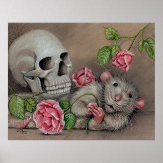 Het poster van de Rozen van de Schedel van de rat