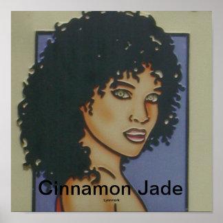 Het Poster van de Salon van het Haar van de Jade v