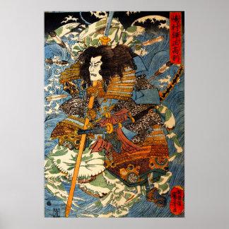 Het Poster van de Samoeraien van Kuniyoshi