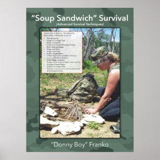 Het Poster van de Sandwich van de soep