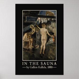 Het poster van de Sauna van gallen-Kallela