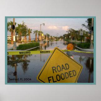 Het Poster van de Schade van de Orkaan van Florida