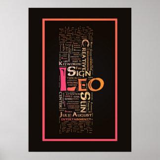 Het Poster van de Sleutelwoorden van de Leeuw