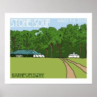 Het Poster van de Soep van de steen