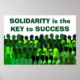 Het poster van de solidariteit