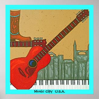 Het poster van de Stad van de muziek