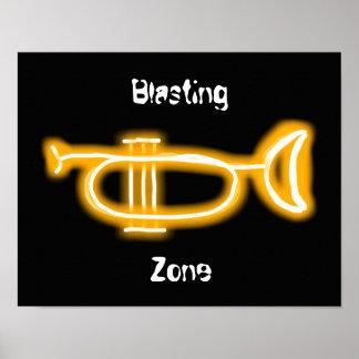 Het poster van de trompet