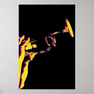 Het Poster van de Trompet van de jazz