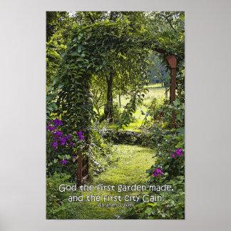 Het Poster van de tuin