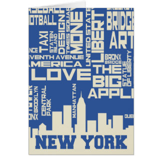 Het Poster van de Typografie van de Stad van New Kaart