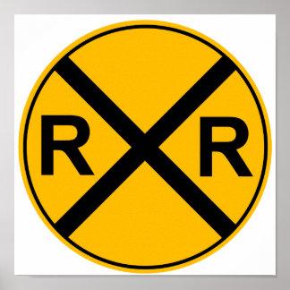 Het Poster van de Verkeersteken van het spoor