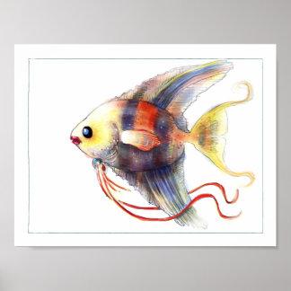 Het Poster van de Vissen van de fantasie: Engelwor