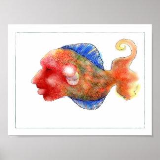 Het Poster van de Vissen van de fantasie: Tripper