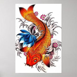 Het Poster van de Vissen van Koi