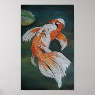 Het Poster van de Vissen van Koi van de vlinder