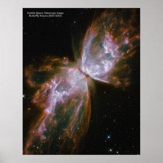 Het poster van de vlinder van de Nevel (NGC 6302)