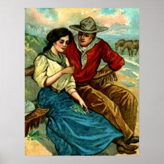 Het Poster van de Vrijage van de cowboy