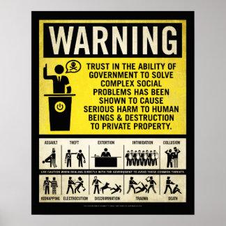 Het Poster van de Waarschuwing van de overheid