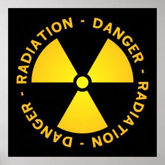 Het Poster van de Waarschuwing van de straling