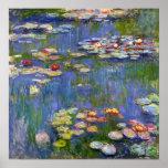 Het Poster van de Waterlelies 1916 van Monet