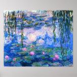 Het Poster van de Waterlelies van Monet