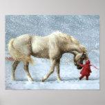 Het Poster van de Winter van het paard en van het