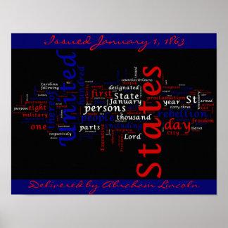 Het Poster van de Wolk van de Wereld van de Procla