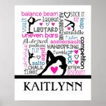 Het Poster van de Woorden van de gymnastiek