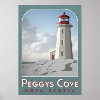 Het Poster van Deco van de Inham van Peggy