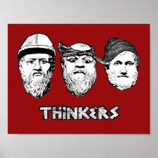 Het poster van denkers