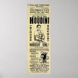 Het Poster van Harry Houdini Handcuff King Vintage