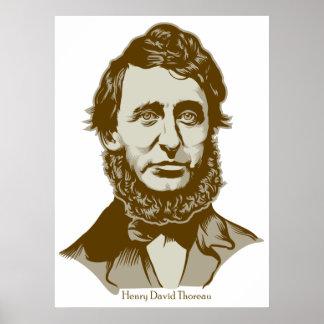 Het Poster van Henry David Thoreau