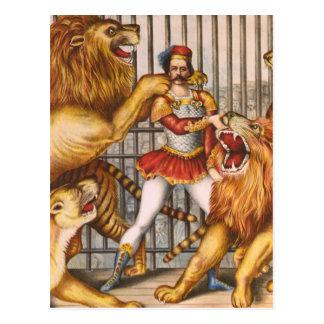 Het poster van het Circus van de Leeuw Tammere Briefkaart