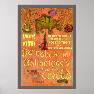 Het Poster van het Circus van SteamPunk