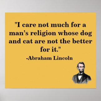 Het Poster van het Citaat van Abraham Lincoln van