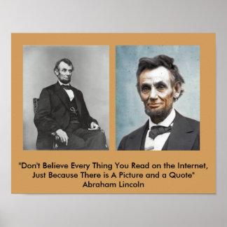 Het Poster van het Citaat van Lincoln?