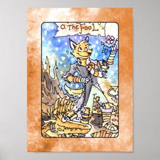 Het poster van het Dek van het Tarot van de Dwaas