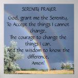 Het Poster van het Gebed van de sereniteit