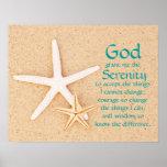 Het Poster van het Gebed van de Sereniteit van de