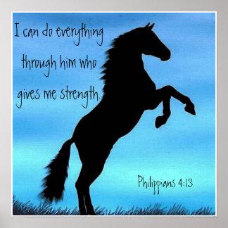 het poster van het het 4:13paard van Philippians v