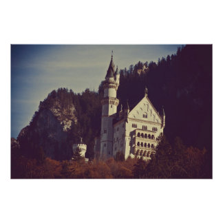 Het Poster van het Kasteel van Neuschwanstein