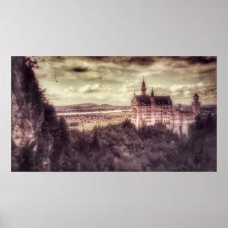 Het Poster van het Kasteel van Neuschwanstein van