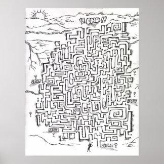 het poster van het mierenlabyrint