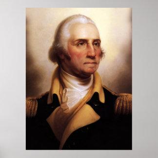Het Poster van het Portret van George Washington