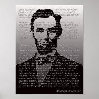 Het Poster van het Portret van het Adres van Abrah