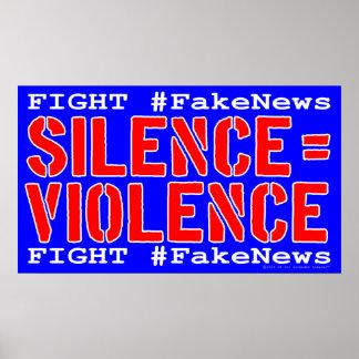 Het Poster van het Protest van de strijd #FakeNews